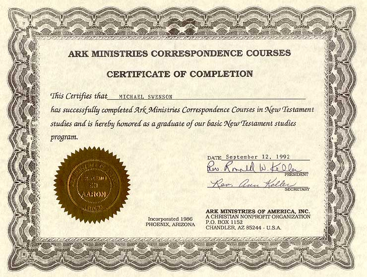 Certificate in Biblical and Theological Studies Overview